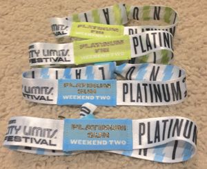 Platinum #ACLFEST tix for today for Sale in Cedar Park, TX