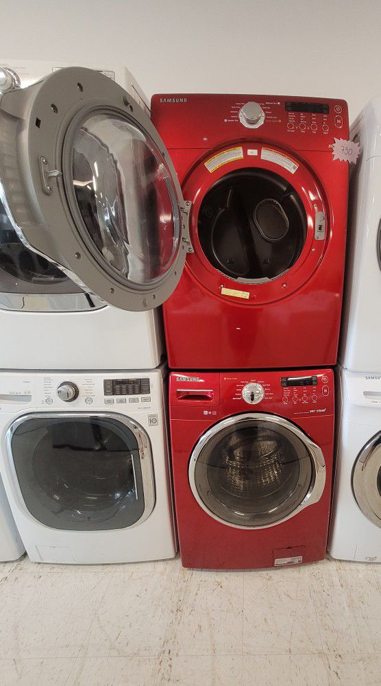 Samsung Front Load Washer And Electric Dryer Set Used In Good Condition With 90day's Warranty