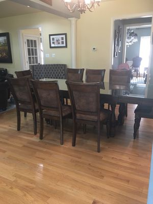 Dining table set seats 8 for Sale in Gaithersburg, MD