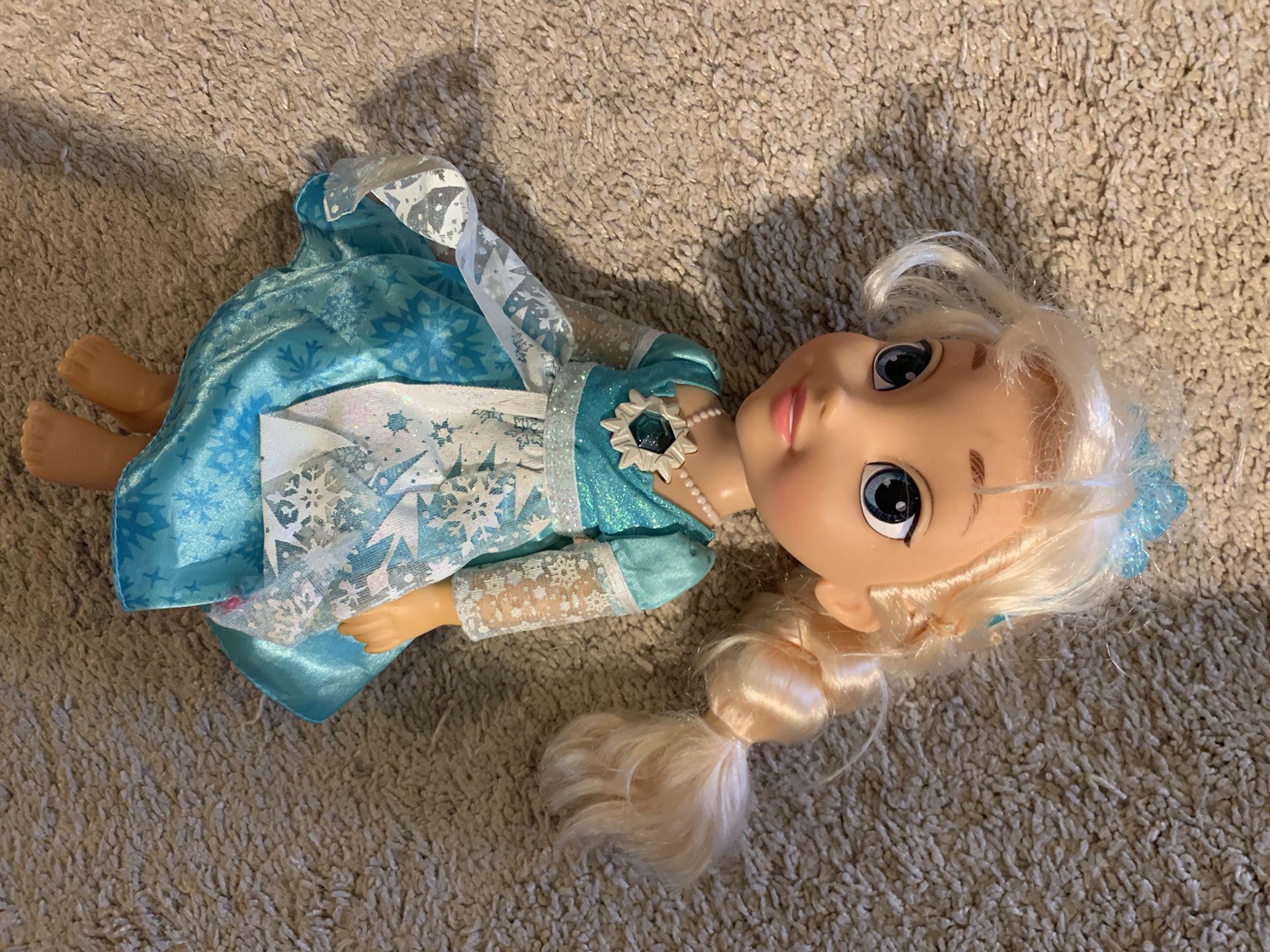 Bilingual Spanish/English talking singing light up Elsa