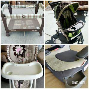 Graco Stroller Pack N Play Highchair Car Booster Seat Best Deal Bundle