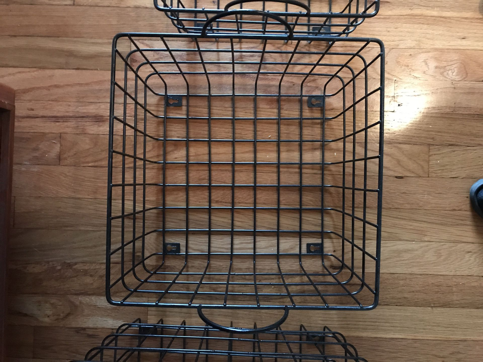 3 PC Metal Basket Set (could be wall shelves)