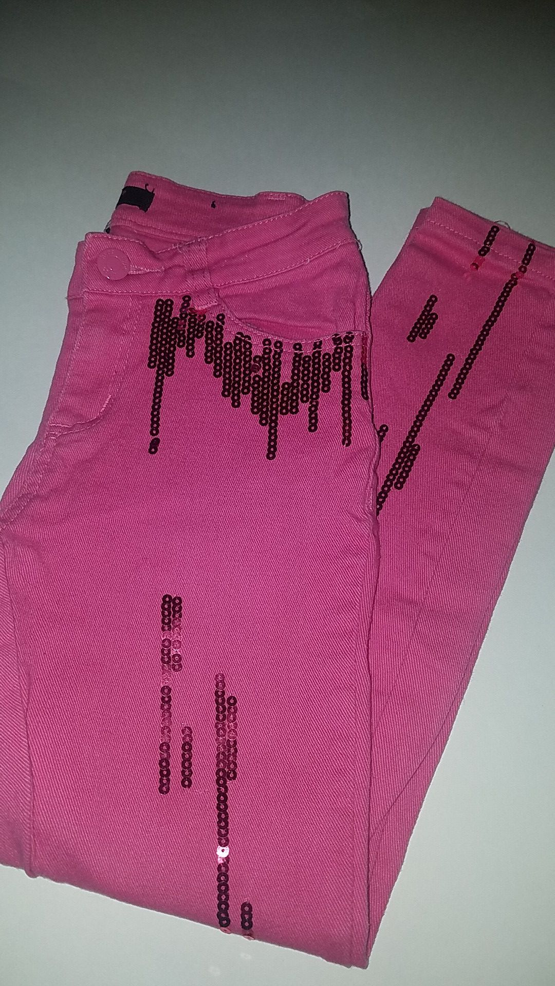 Girls Pink Jean's size 8 ( youth)