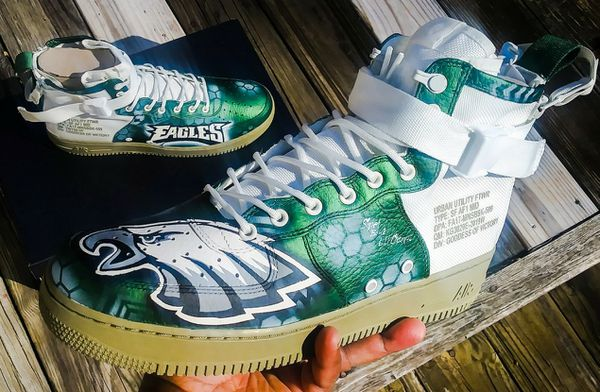 514da88bba592 Custom Philadelphia Eagles Special Forces Air Force 1 mid size 12 for Sale  in Hickory, NC - OfferUp
