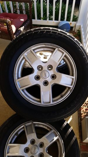 Jeep Rims And Tires >> Jeep Rims And Tires Lillte Tread On Them But Rims Are In Good Condition Must Go Just Reduced For Sale In Concord Nc Offerup