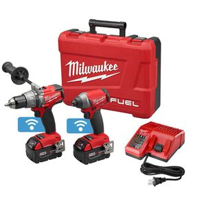 Milwaukee M18 FUEL ONE-KEY 18-Volt Lithium-Ion Brushless Cordless Hammer Drill/Impact Driver Combo Kit w/(2) 5.0Ah Batteries, Case for Sale in Orlando, FL