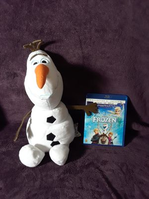 Frozen dvd and plush snowman for Sale in Tampa, FL