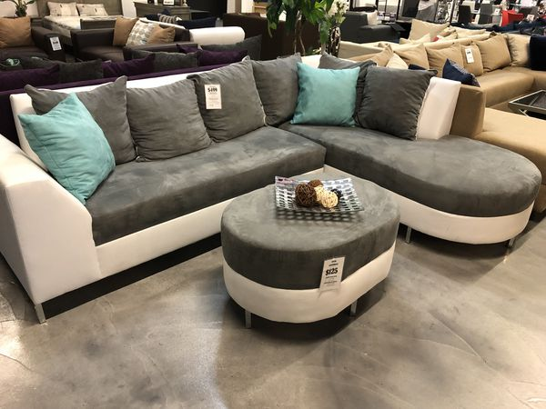 Sectional Sofa With Round Chaise