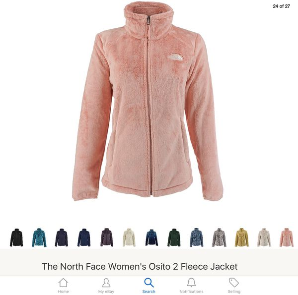a0db6dd68462 Brand  New Authentic  North Face Women s Osito 2 Fleece Jacket Lemonade  Pink White