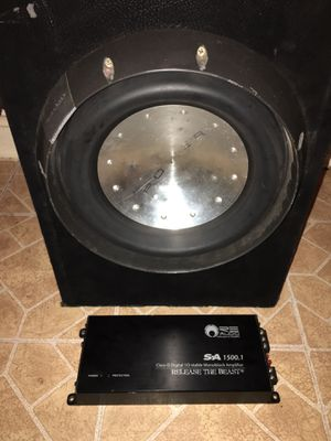 """Photo 12""""T2 In Ported Box & 1500 Watt RE Amp 1 Ohm Stable"""
