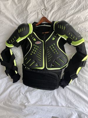 Photo Armored Vented Motorcycle or Stunt Jacket with Kidney Belt!
