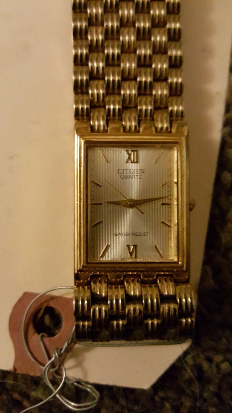 Citizen womens gold designer watch