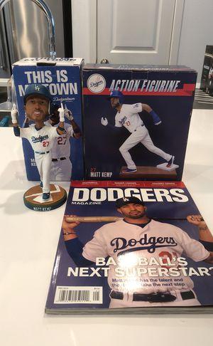 LA Dodgers. Matt Kemp Bobblehead, Action Figure and Magazine. for Sale in Bellflower, CA