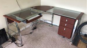 L-shaped compter desk + mobile file cabinet for Sale in Bladensburg, MD