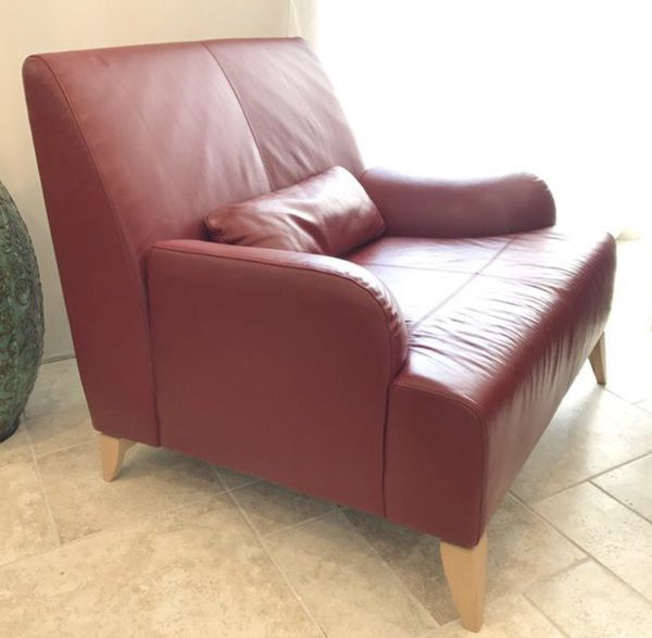 Gorgeous Red Modern Leather Sofa and Chair for Sale in San Antonio, TX -  OfferUp