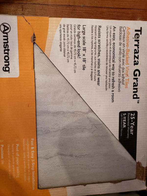 3 Boxes Armstrong Terraza Grand Floor Tiles For Sale In