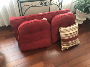 Cushions - cushions for 2 chairs and loveseat and one accent cushion. for Sale in Odenton, MD