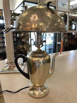 Farmhouse Style Vintage Colander/Percolator Lamp Thumbnail