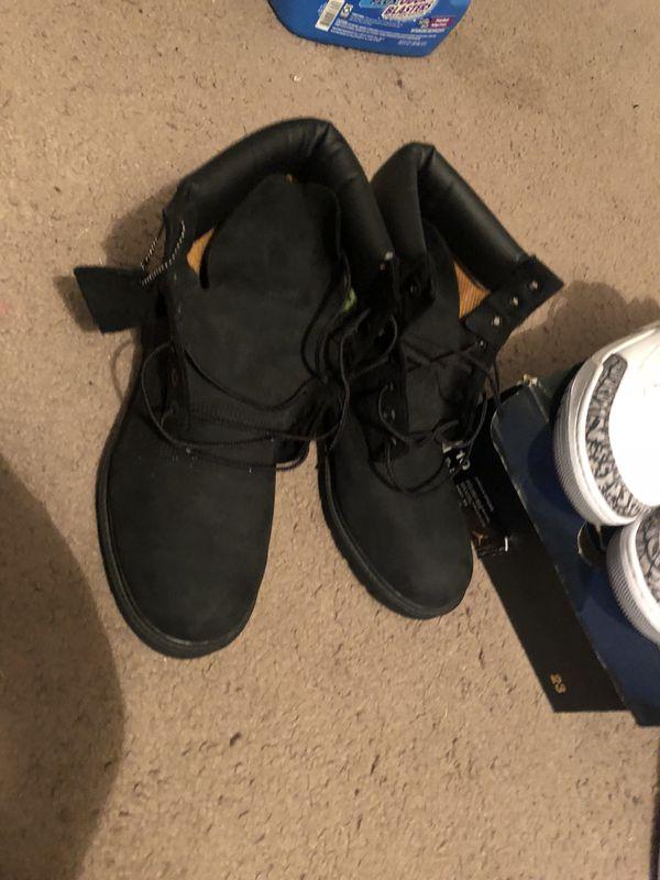 Black Timberlands size 10 (Clothing   Shoes) in Daytona Beach 43b231eee813