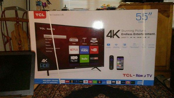 55 Tcl Roku 4k Hdr Ultra High Def Smart Tv For Sale In Citrus