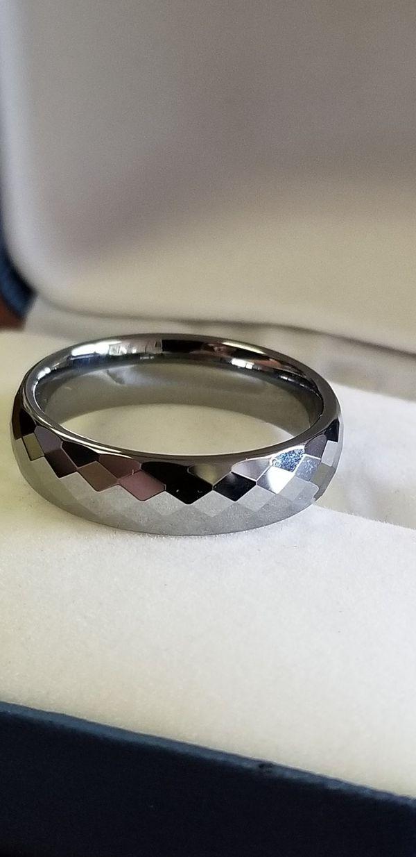 e7bc7948952d9 Men's Tungsten Carbide, Wedding Band, Diamond Cut, Ring size 7, 8, 9, 10,  11 & 12