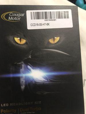 cougar motor LED headlight bulb H7 for Sale in Lorton, VA
