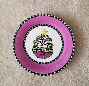 MSC Main Street Collection Handpainted Christmas Tree Plate for Sale in Gaithersburg, MD