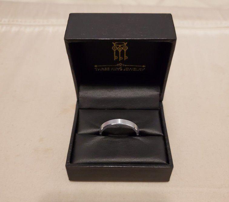 Three Keys Tungsten Ring (Size 11.5)