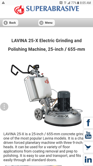 Lavina 25-X Concrete Grinder & Polisher for Sale in Norco, CA - OfferUp