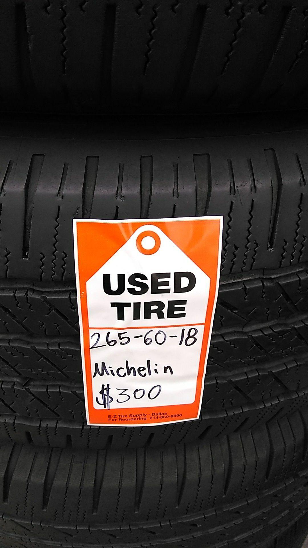 265-60-18 Michelin