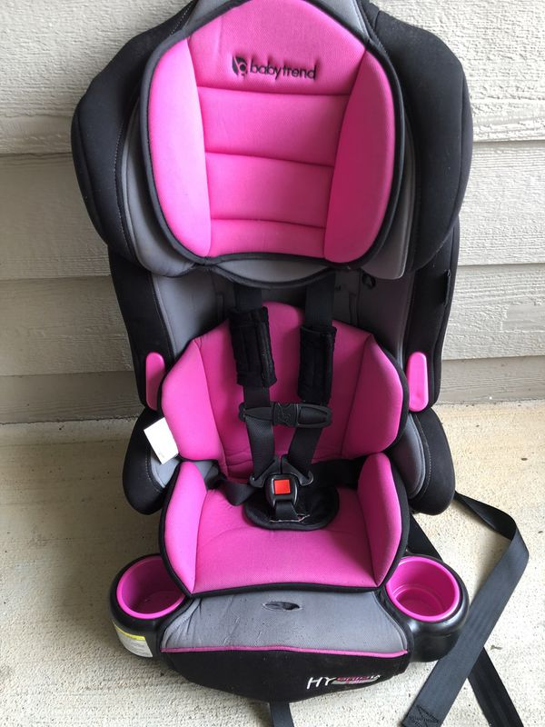 Baby Trend Hybrid 3 In 1 Booster Car Seat Pink