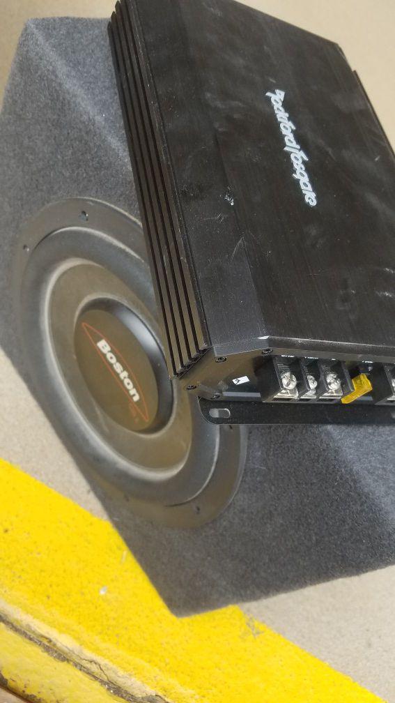 Boston subwoofer + Rockford Fosgate Amp