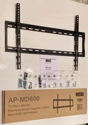 """Photo New LCD LED Plasma Flat Fixed TV Wall Mount stand 32 37"""" 40"""" 42 46"""" 47 50"""" 52 55"""" 60 65"""" inch tv television bracket 100lbs capacity"""