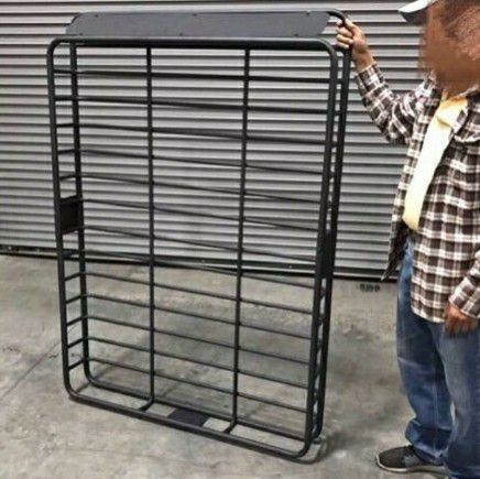 Brand New in box XXL large 64x45x7 inches tall roof travel cargo carrier storage rack for suv car truck with mounting brackets
