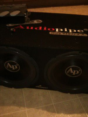 Photo Audio pipes ..kicker and amp