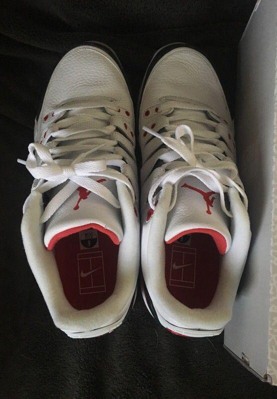 Nike zoom vapor RF AIR JORDAN 3 X ROGER FEDERER AJ3RF FIRE RED for