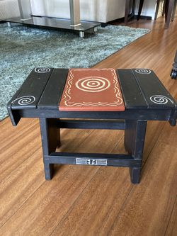 Wooden Handmade carved Step stool Thumbnail