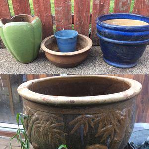 Photo Ceramic flower pots