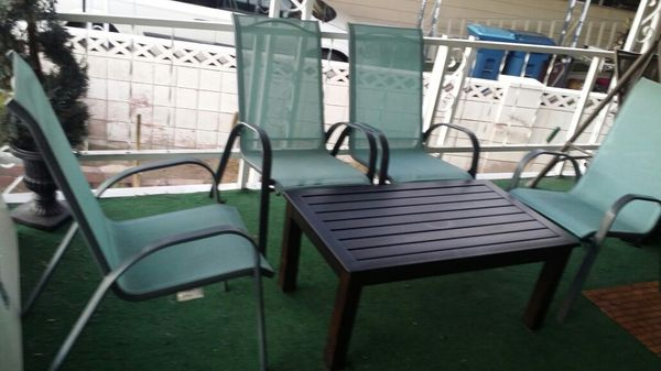 4 Patio Chairs With Patio Coffee Table For Sale In Las