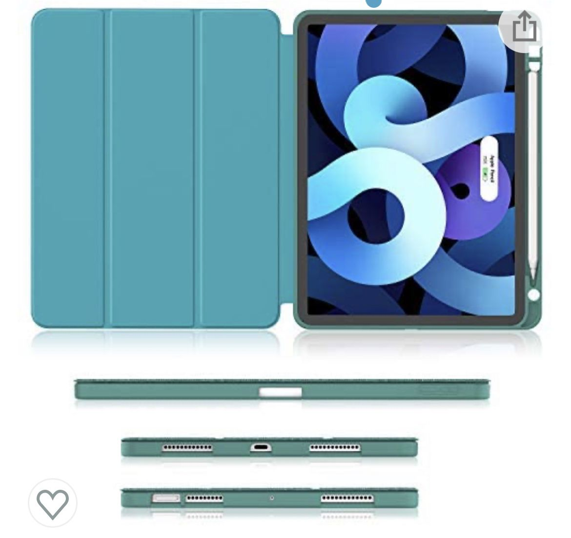 iPad Air 4 Case 10.9 Inch 2020 with Pencil Holder