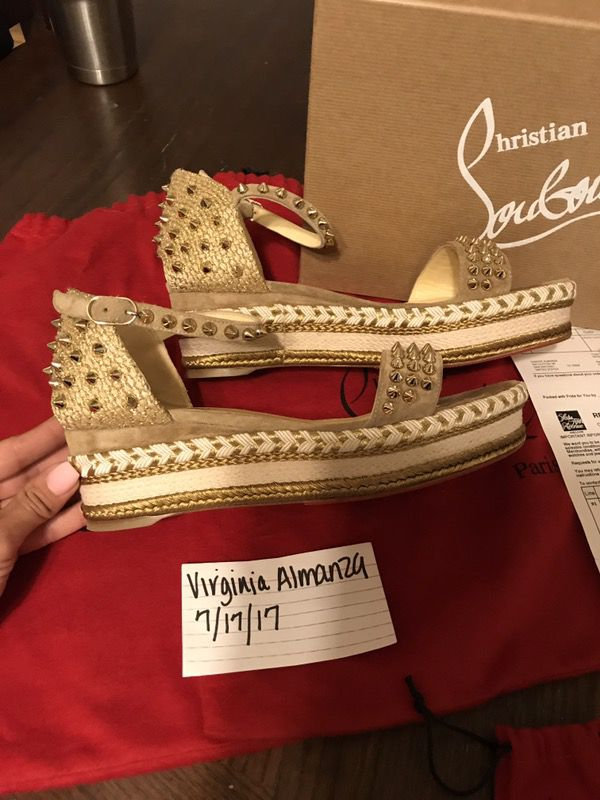 newest f47fe 23aa7 Christian louboutin Madmonica wedges for Sale in San Antonio, TX - OfferUp