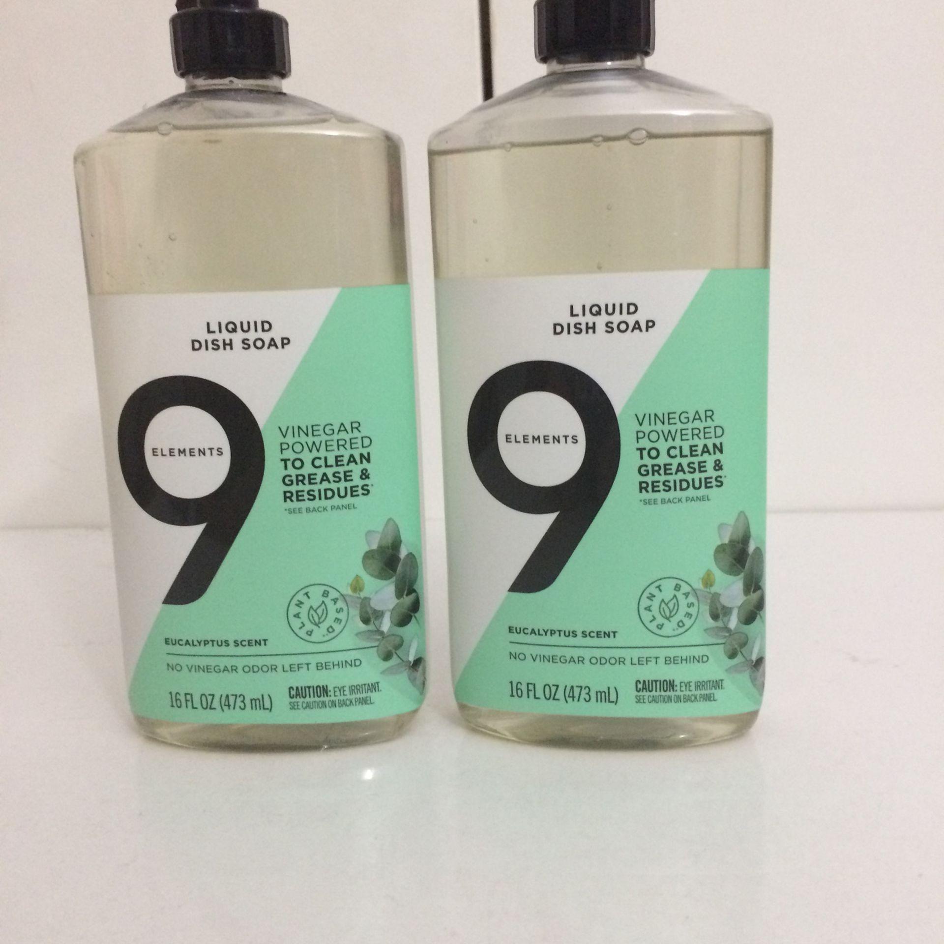 9 Elements Liquid Dish Soap (16 Fl Oz)