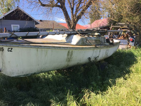 Sailboat  Swing keel on trailer for Sale in Lodi, CA - OfferUp