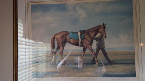 Beautiful Framed Litho Of Genuine Risk 1980 Kentucky Derby Winner