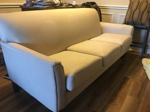 White couch for Sale in Alexandria, VA