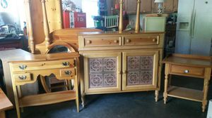 Beautiful solid wood bedroom set for Sale in Colesville, MD