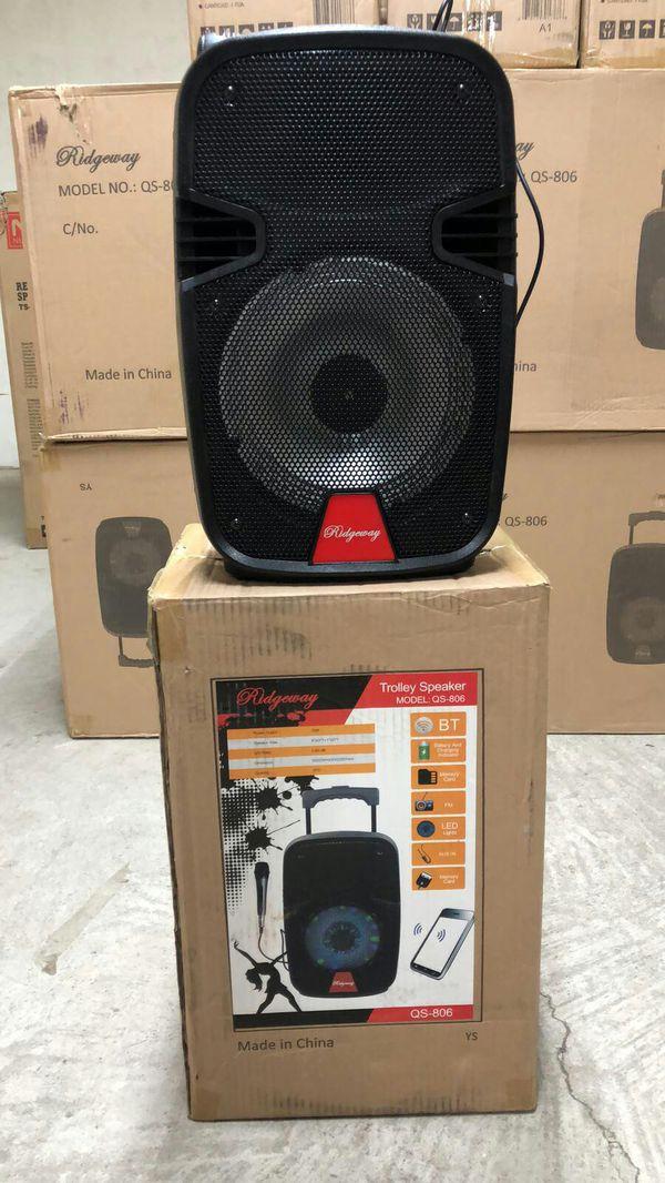RIDGEWAY QS-804 8 inch Portable Wireless Bluetooth Speaker