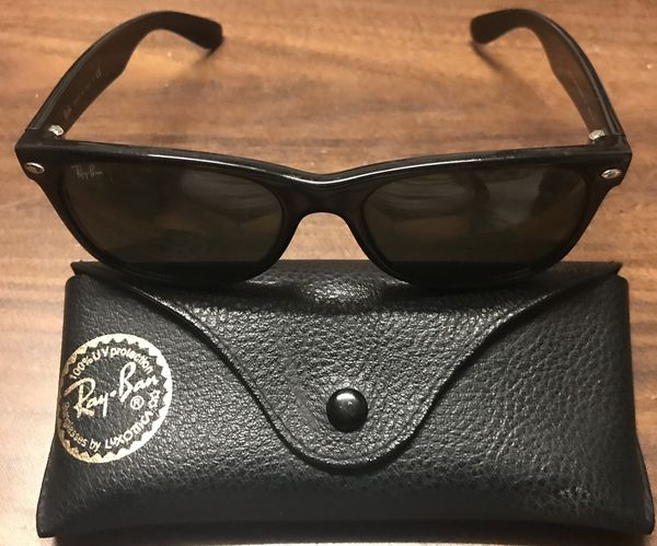 971392fe3046 NEW NOT USED RAY BAN New Wayfarer RB 2132 901 58 55mm Large Black Frame  with Polarized Lenses