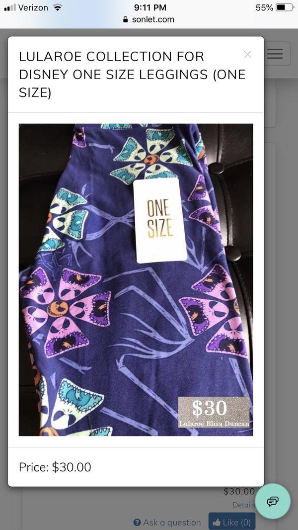 2f598769cf16f5 Nightmare Before Christmas Lularoe Halloween Leggings for Sale in ...