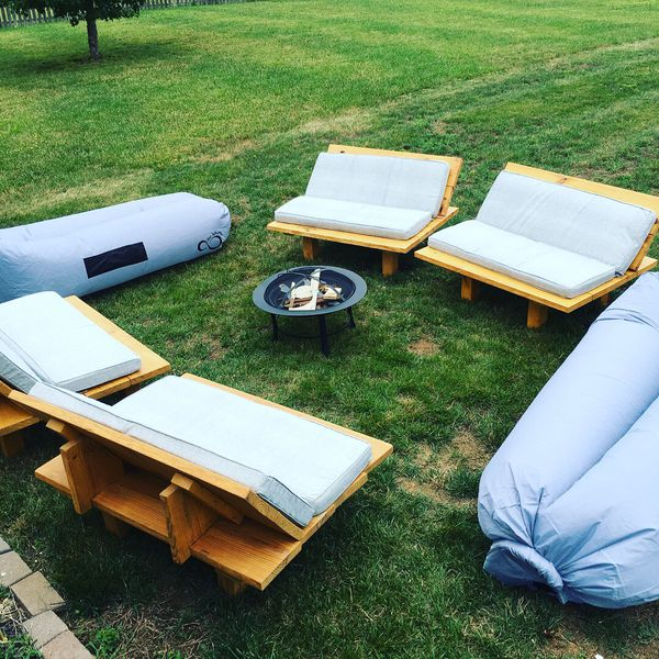 Solid wood patio furniture set (4 piece) (Home & Garden) in Louisville, KY  - OfferUp - Solid Wood Patio Furniture Set (4 Piece) (Home & Garden) In
